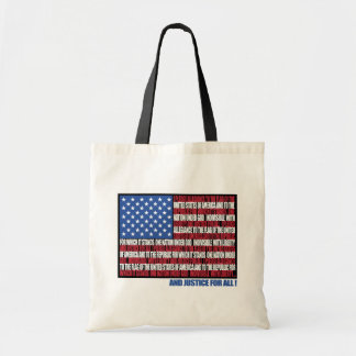 Pledge of Allegiance totebag Tote Bag