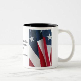 Pledge of Allegiance & US Flag Two-Tone Mug