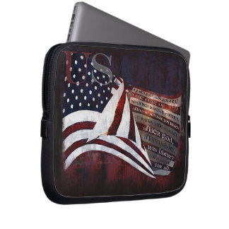 Pledge of Alliegiance -USA Flag Laptop Sleeve