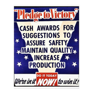 Pledge To Victory, Do It Today Now Personalized Flyer