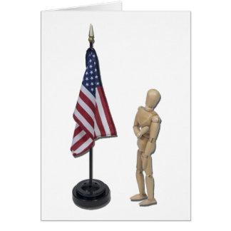 PledgeToAmericanFlag121211 Greeting Card