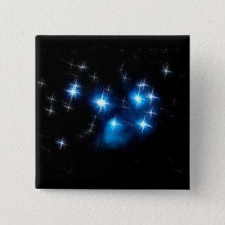 Pleiades Blue Star Cluster 15 Cm Square Badge