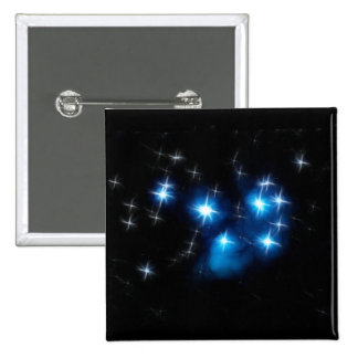 Pleiades Blue Star Cluster 15 Cm Square Badge