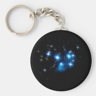 Pleiades Blue Star Cluster Key Ring