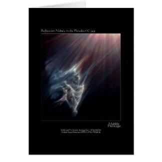 Pleiades IC 349 Nebual Hubble Telescope Photo Greeting Card