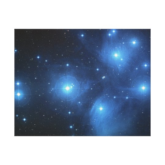 Pleiades Star Cluster Canvas Print