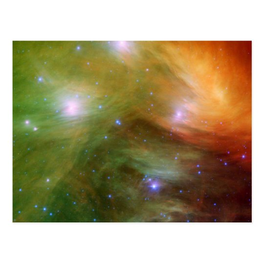 Pleiades stars in infrared SSC2007 07A Postcard