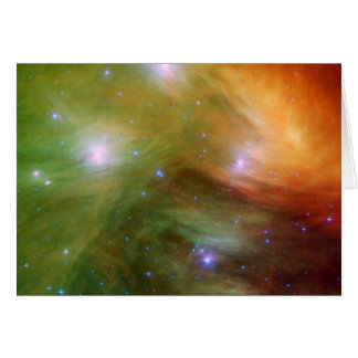 Pleiades The 7 sisters in infrared Greeting Cards
