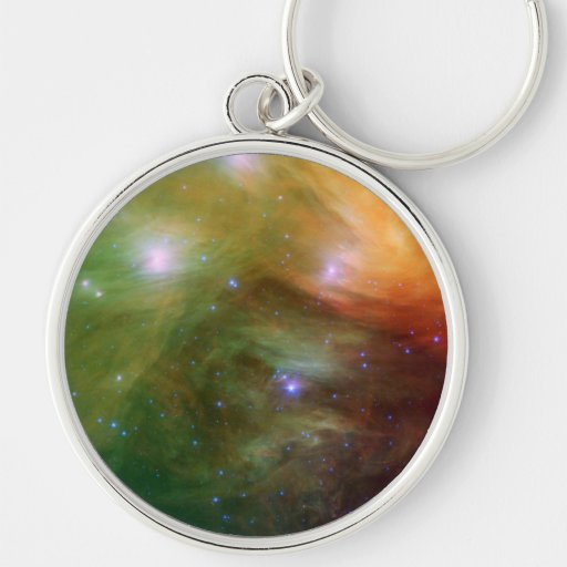 Pleiades The 7 sisters  in infrared Key Chain