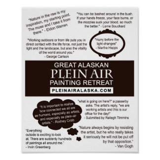 Plein Air Artist Painting Quotes Poster