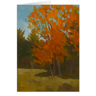 Plein air painting of Maine fall  greeting card