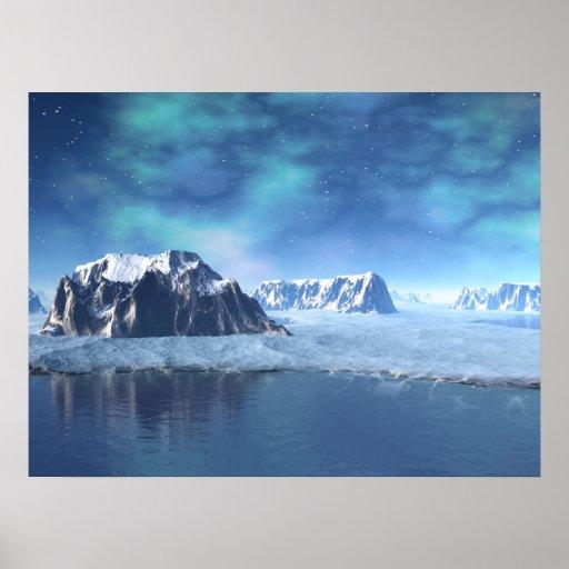Plenata Lake in Winter Alien Landscape Print