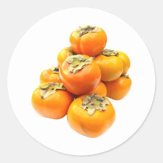 Plentiful Persimmon Classic Round Sticker