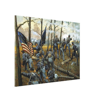 Plenty of Fighting Today by Keith Rocco Stretched Canvas Print