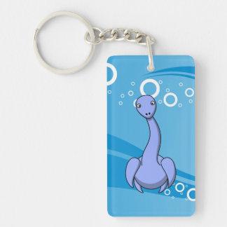 Plesiosaur Cartoon Rectangle Acrylic Key Chain