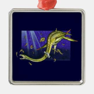 Plesiosaur Premium Square Ornament