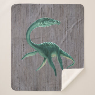 Plesiosaurus Dinosaur Medium Sherpa Fleece Blanket