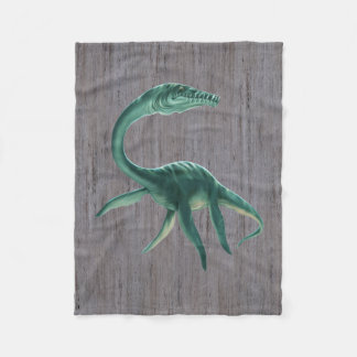 Plesiosaurus Dinosaur Small Fleece Blanket