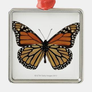 Plexippus Danaus Butterfly Silver-Colored Square Decoration