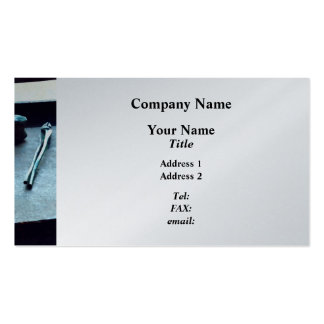 Pliers and Mallet  - Platinum Finish Pack Of Standard Business Cards