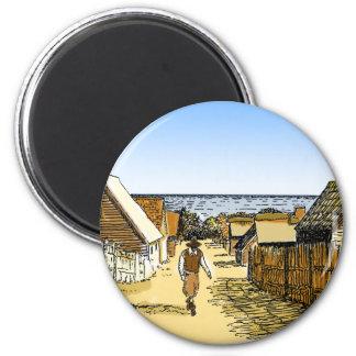 Plimoth Plantation 6 Cm Round Magnet