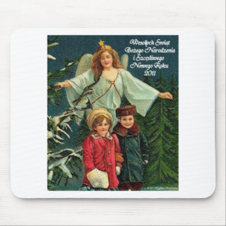 PLISH CHRISTMAS ITEMS WESOLYCH SWIAT MOUSE PAD
