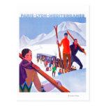 PLM Railway Promotional Poster Postcard