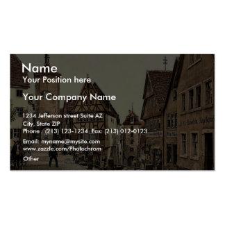 Ploenlein, Rothenburg (i.e. ob der Tauber), Bavari Pack Of Standard Business Cards