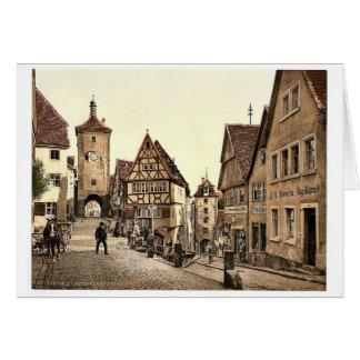 Ploenlein, Rothenburg (i.e. ob der Tauber), Bavari Greeting Card