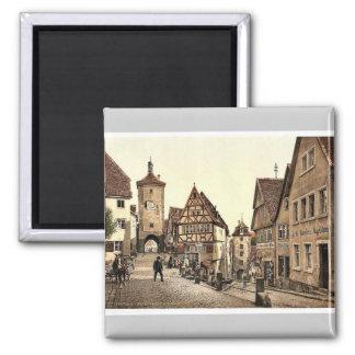 Ploenlein, Rothenburg (i.e. ob der Tauber), Bavari Square Magnet