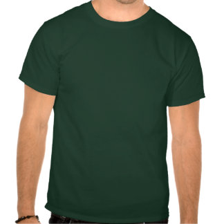 PLOK (vivid blue on deep forest) T-shirts