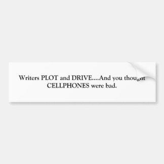 Plot and Drive Bumper Sticker