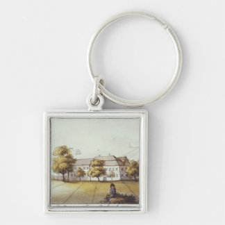 Plot at the Tempelhof Mountain, Berlin Silver-Colored Square Key Ring