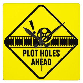 Plot Holes Traffic Sign Wallclock