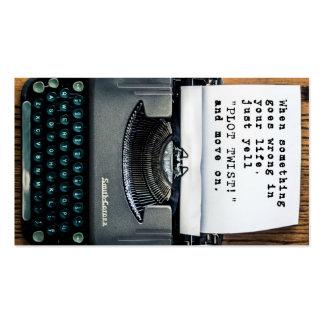 """Plot Twist"" Business Card - Full Typewriter"