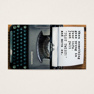"""Plot Twist"" Business Card - Full Typewriter"