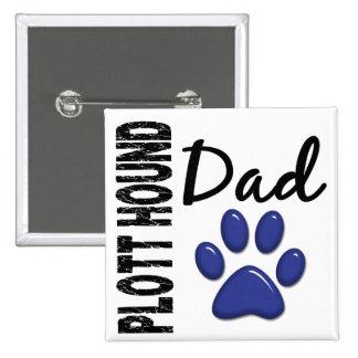 Plott Hound Dad 2 15 Cm Square Badge
