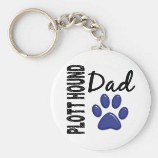 Plott Hound Dad 2 Key Chains