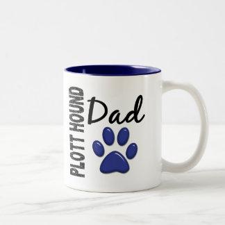 Plott Hound Dad 2 Two-Tone Mug