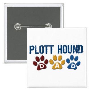 PLOTT HOUND Dad Paw Print 1 15 Cm Square Badge