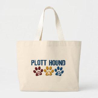 PLOTT HOUND Dad Paw Print 1 Tote Bags
