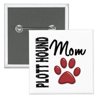 Plott Hound Mom 2 15 Cm Square Badge