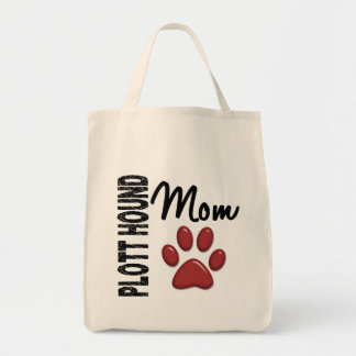 Plott Hound Mom 2 Grocery Tote Bag