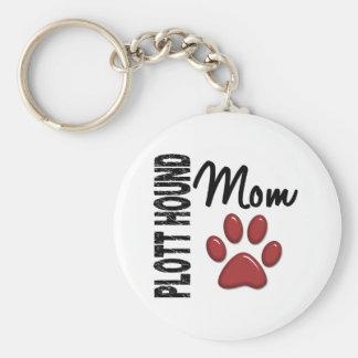 Plott Hound Mom 2 Key Chains