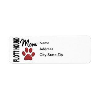 Plott Hound Mom 2 Return Address Label