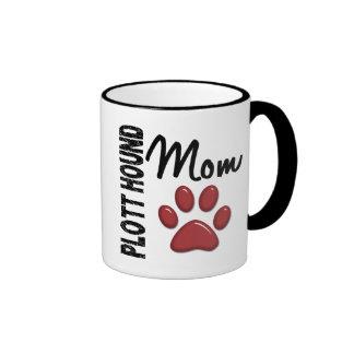 Plott Hound Mom 2 Ringer Mug