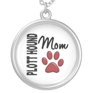 Plott Hound Mom 2 Round Pendant Necklace