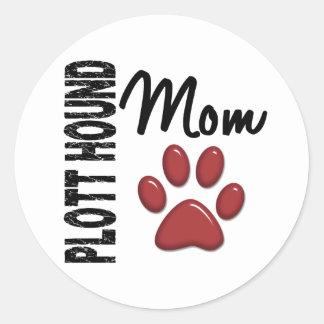 Plott Hound Mom 2 Round Sticker