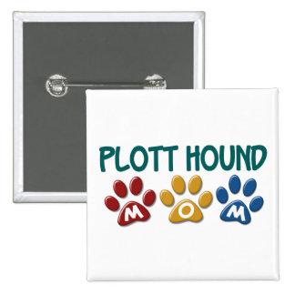 PLOTT HOUND Mom Paw Print 1 15 Cm Square Badge