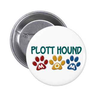 PLOTT HOUND Mom Paw Print 1 6 Cm Round Badge
